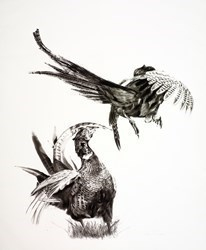 Fight or Flight by Sarah Stokes -  sized 26x30 inches. Available from Whitewall Galleries